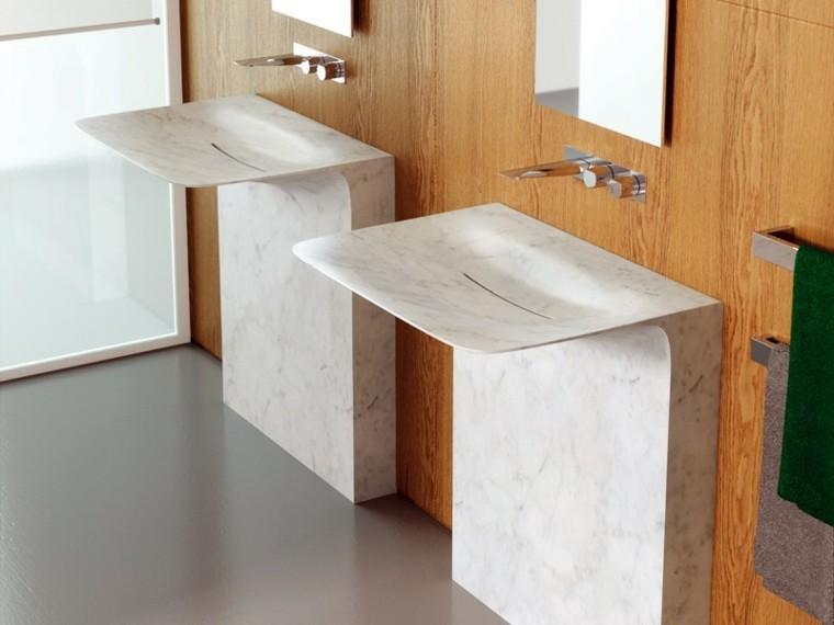 lavabos marmol pared modernos