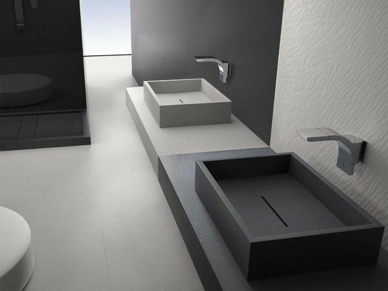 lavabos cuadrados color gris