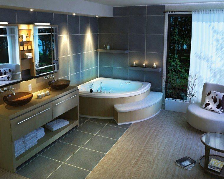 led conteporaneo baño casa plantas