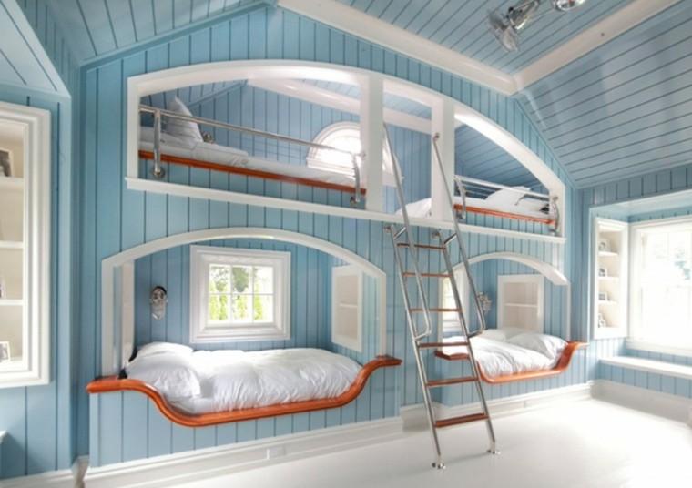 literas blanco madera ventanas escalera