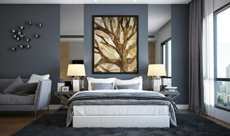 llamativa elegante pared reloj cuadro
