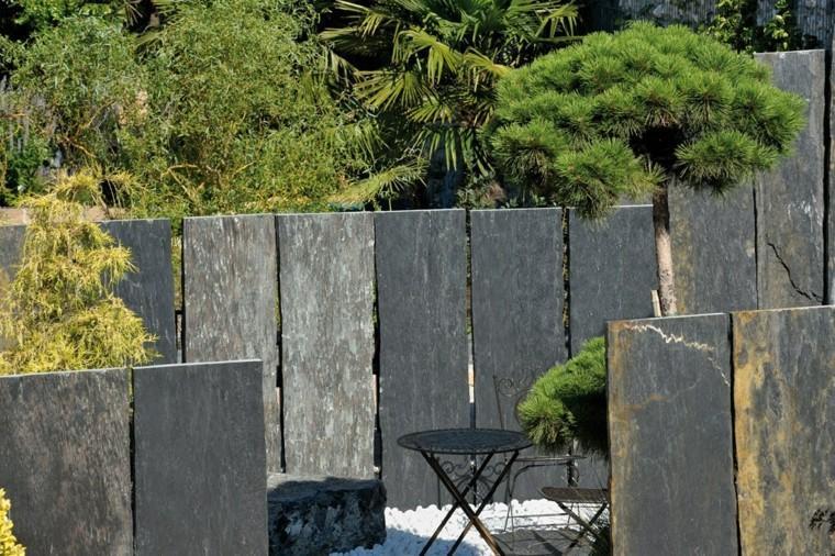losas grandes preciosas valla jardin moderno ideas