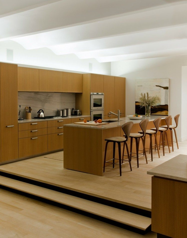 Techos modernos con luces led integradas 50 ideas - Remates de muebles de cocina ...