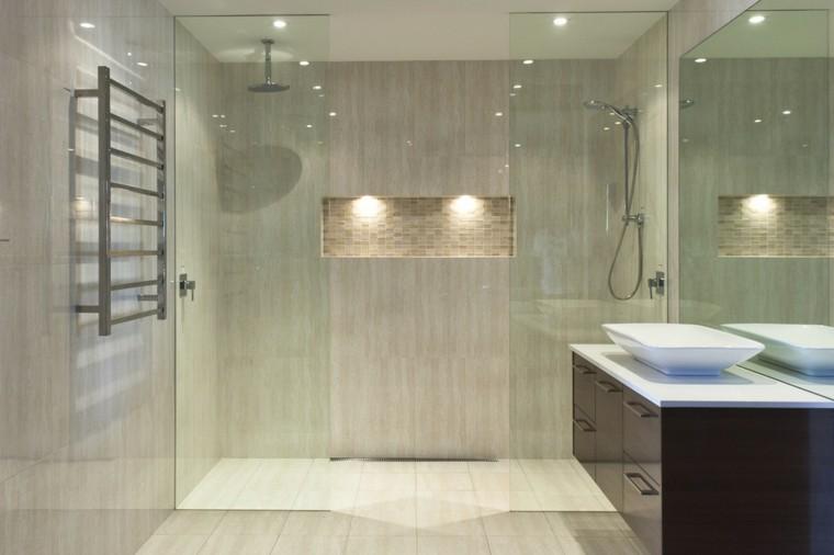 luces led moderno pequeño ducha