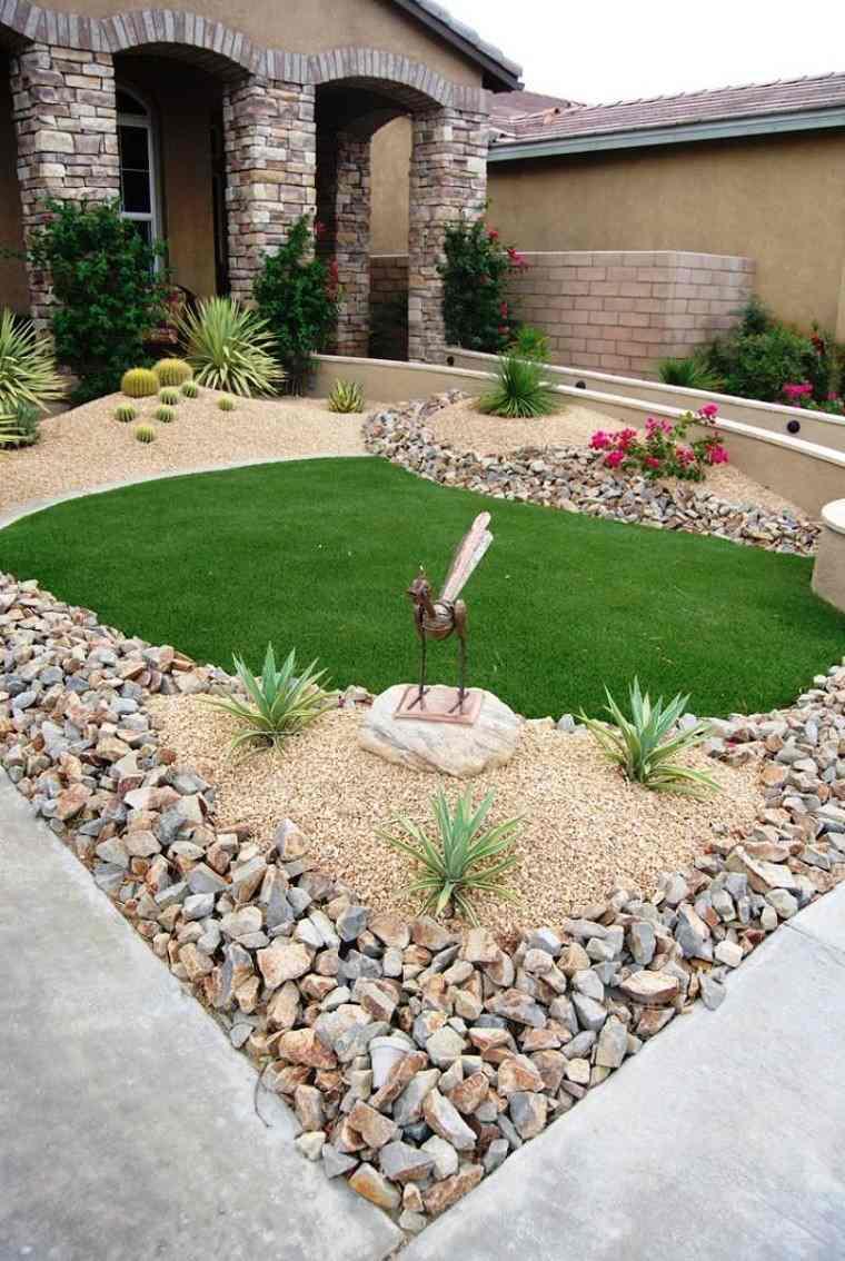lujo decorado jardin escultura arena