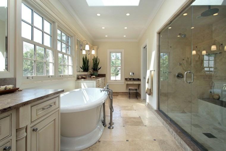 lujoso espejo creativo baño amplio