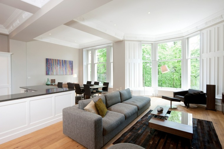 luminoso espacio cuadros estilo sofa