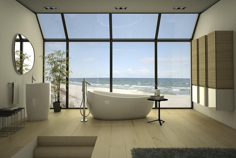 Cuarto de ba o con dise o moderno al estilo minimalista for Diseno de una habitacion con bano