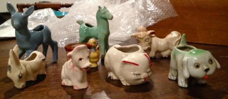macetas hechas animales ceramica plantas