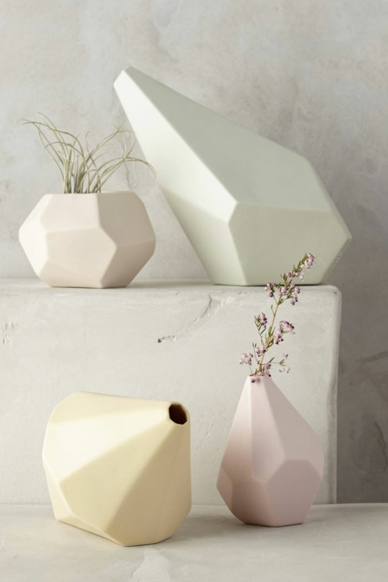 macetas ceramicas colores claros estilo boho ideas