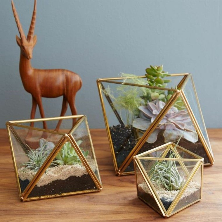 macetas estilo boho geometricas preciosas ideas