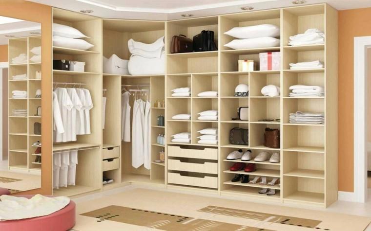 Vestidor dise os en 50 ideas que renovar n tu espacio for Zapateras para closet madera