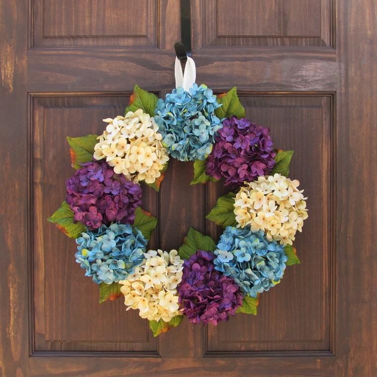 madera elegante azules verde puerta