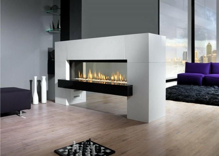 Dise o chimeneas modernas y 50 ideas para entrar en calor - Modelos de chimeneas electricas ...