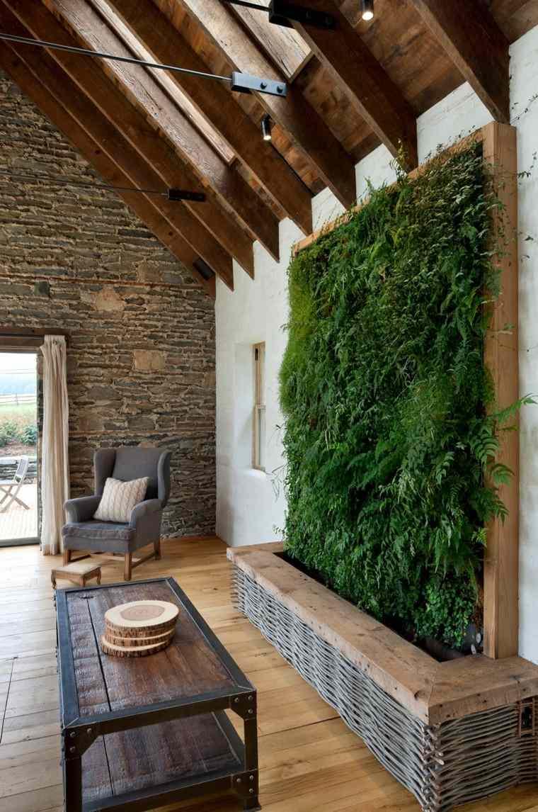 madera rural casa mesa rocas