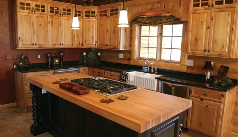 madera rustica cocina ele encimera