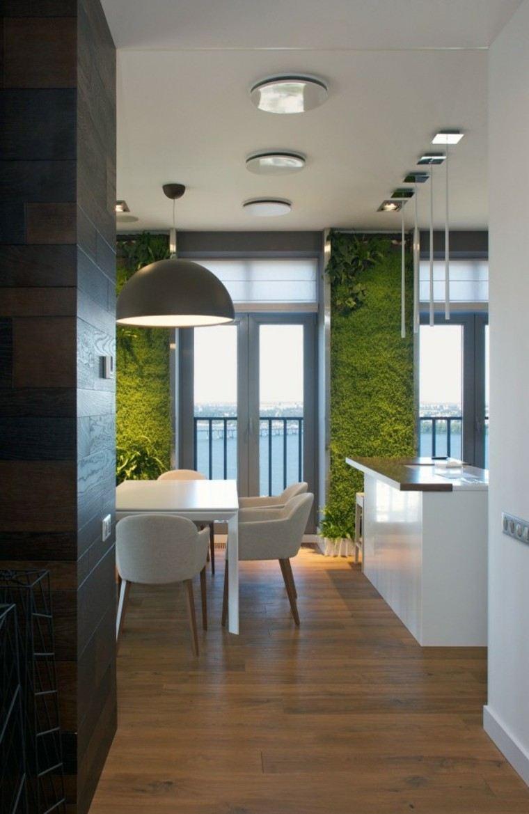 madera suelo blanco lamparas mobiliario
