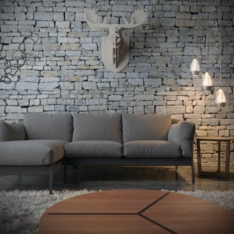 madera techo lampara gris animal