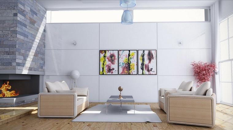 magia blanca decoracion femenina cuadros pared salon ideas