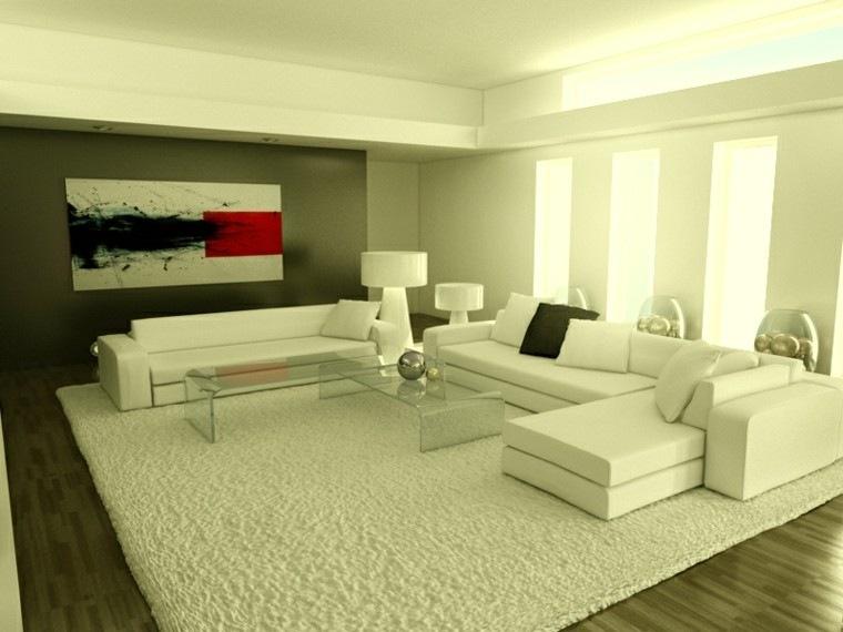 magia blanca pared oscura alfombra grande salon moderno ideas
