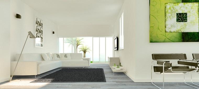 magia blanca salon toques verde alfombra negra ideas