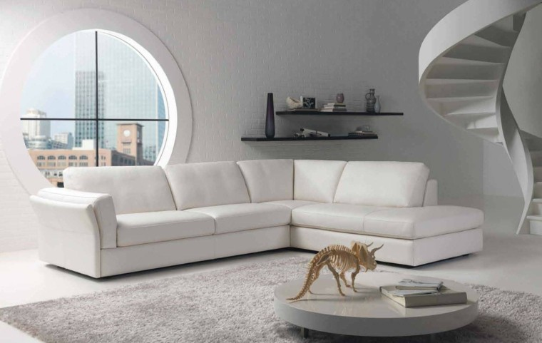magia blanca sofa grande pared ladrillo ideas