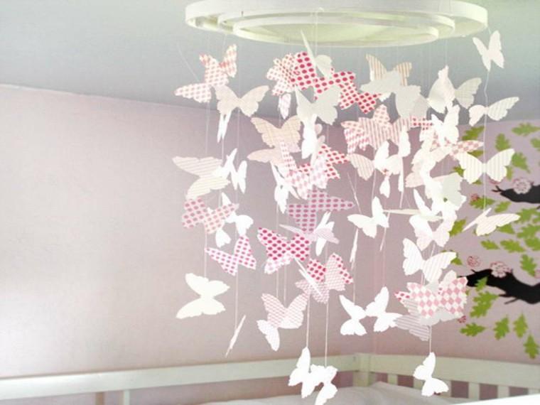 mariposas papel colgante lampara