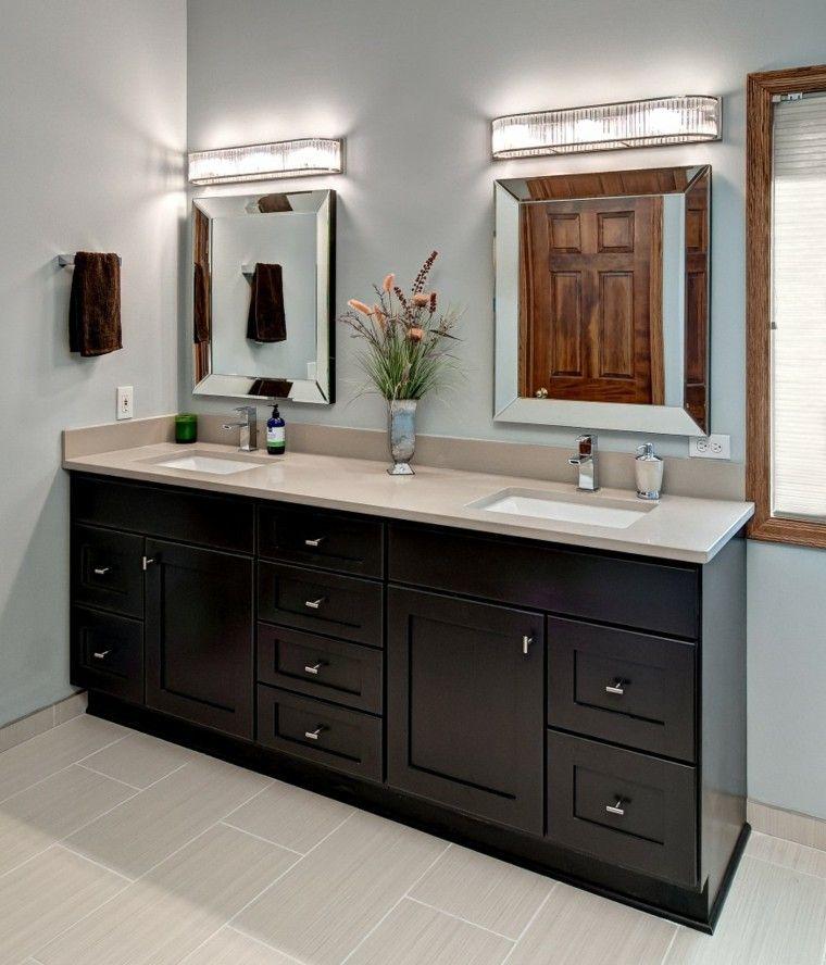 marmol suelo paredes oscuro espejo