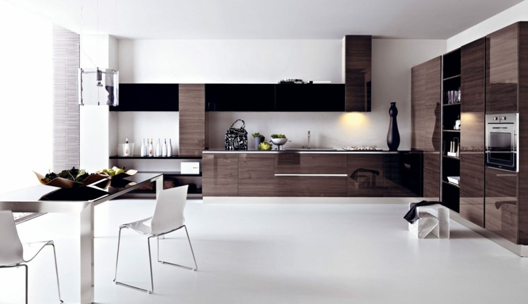 marron estilo madera metal blanco