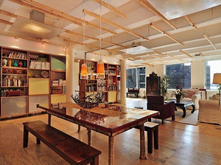 mesa bancos comedor estilo industrial madera ideas