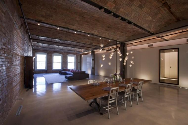 mesa comedor madera loft diseno moderno ideas