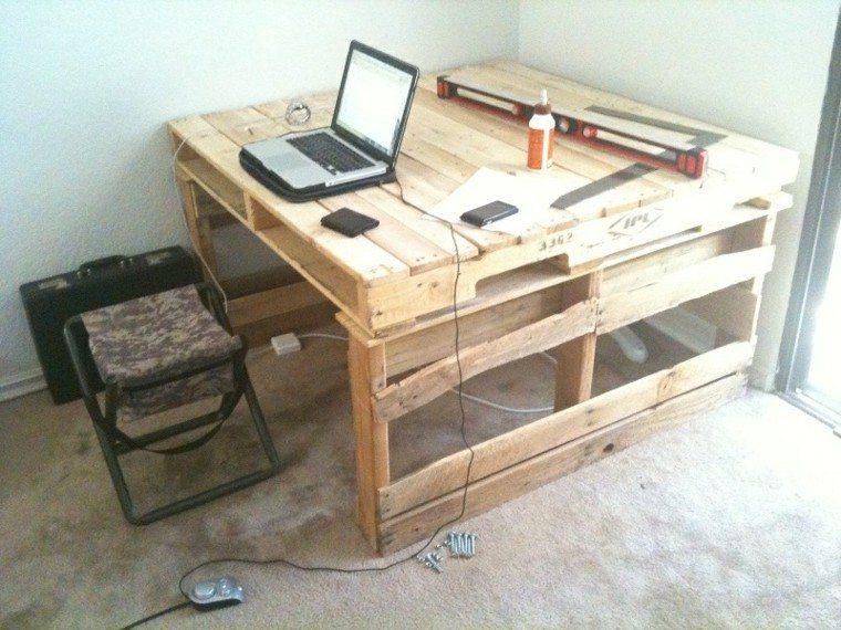 Diy muebles cincuenta ideas creativas con palets de madera - Mesas palets madera ...
