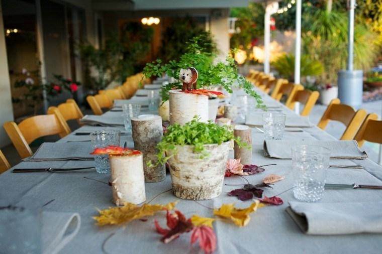 mesa grande decoracion estilo natural