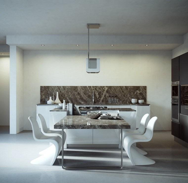 Cocinas de dise o 25 ideas sensacionales - Mesa cocina diseno ...