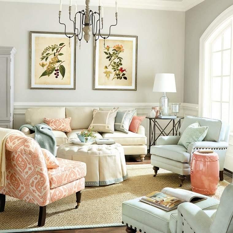 mesa redonda otomana salon blanca preciosa ideas