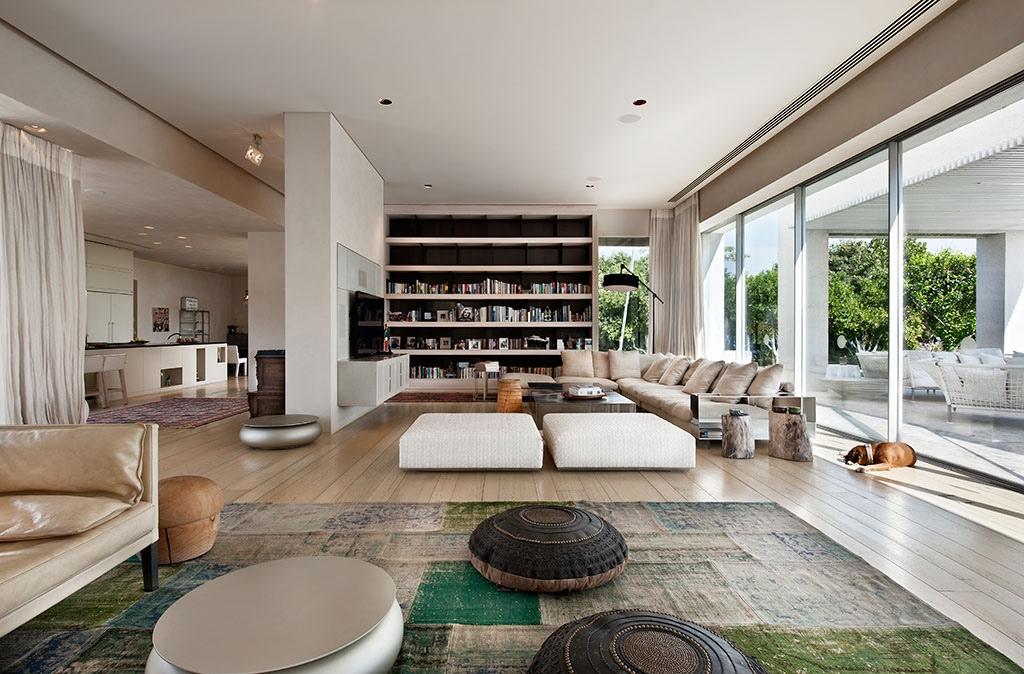 mesa redonda otomana salon estilo contemporraneo ideas