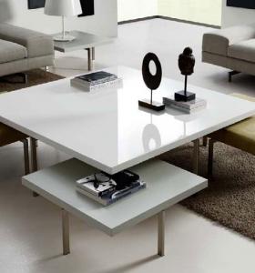 Muebles tv y bibliotecas para el sal n o sala de estar for Mesa salon blanca