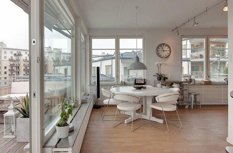 mesa sillas comedor muebles blancos precios ideas