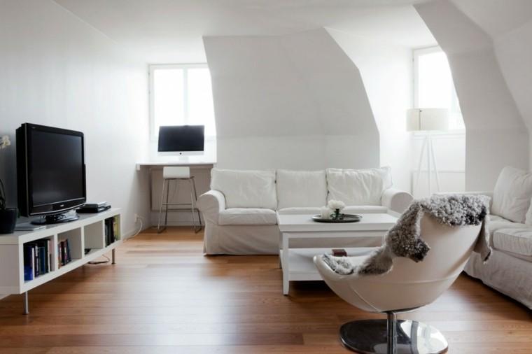 mesa sillon butaca sofa blanca salon ideas