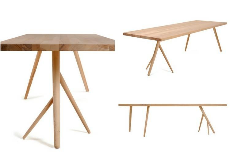 mesas madera patas modernas laminado