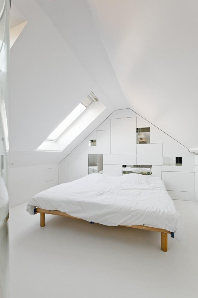 minimalista casa estado cama ventanas