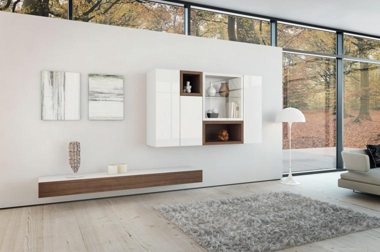 mobiliario madera lamparas alfombra muebles