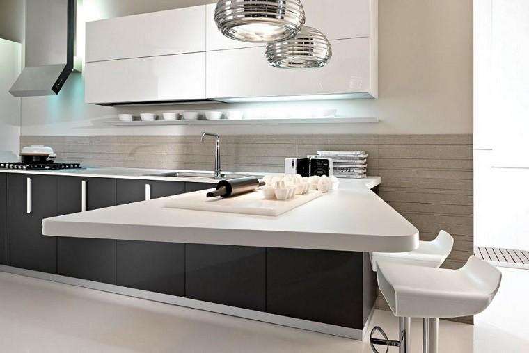 Cocina americana con barra funcionalidad en tu hogar for Barras de cocina modernas