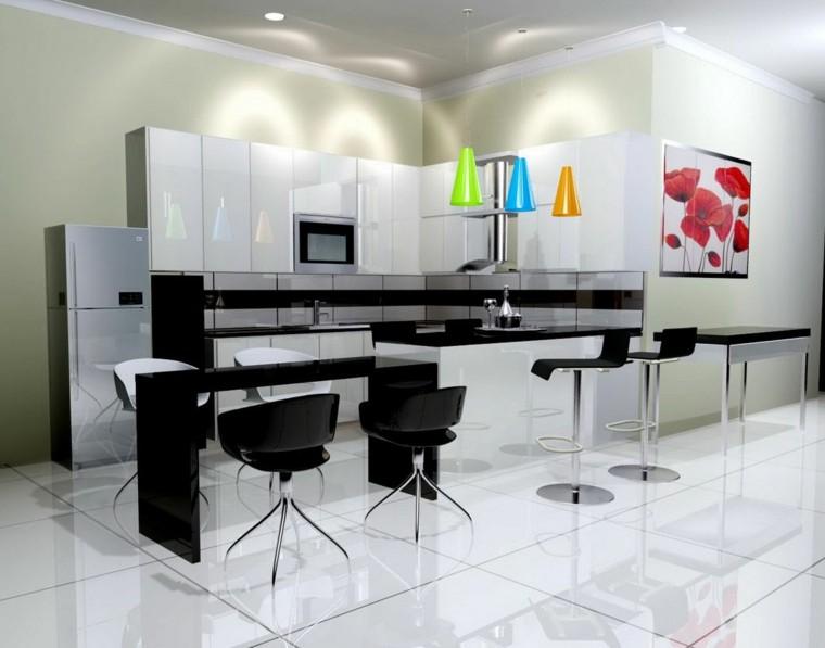moderna cocina casa colorido vovos