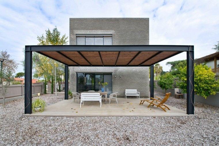 Pergolas modernas la opci n indespensable este verano Formas de tejados de casas