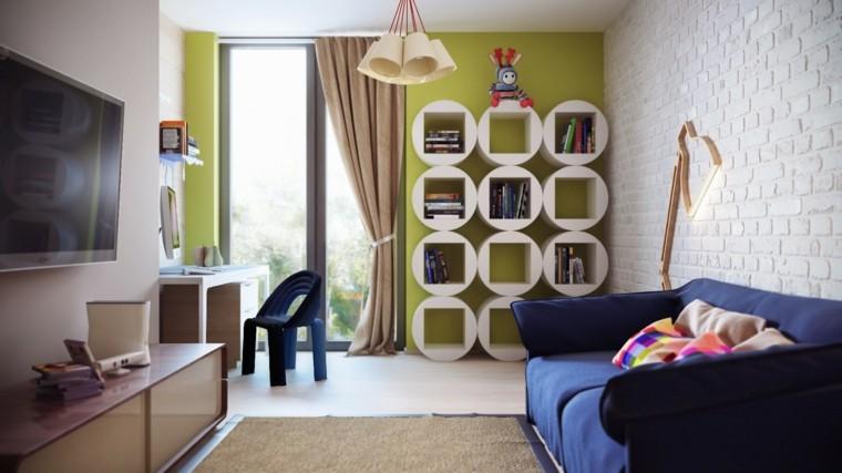 moderna infantil habitacion niños lamparas