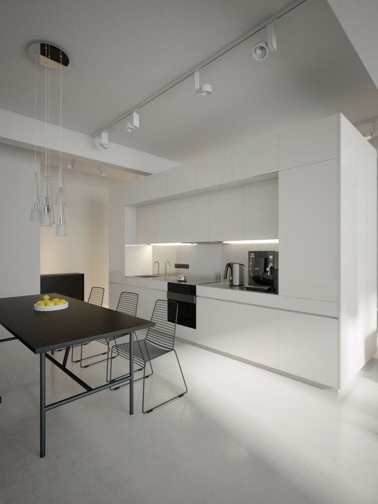 moderna minimalista mesa limones metal