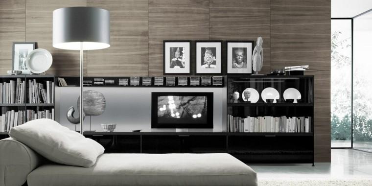 moderna television unidad pared cuadros