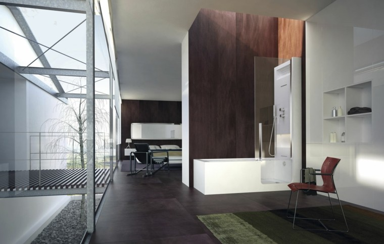moderno abierto baño metal silla