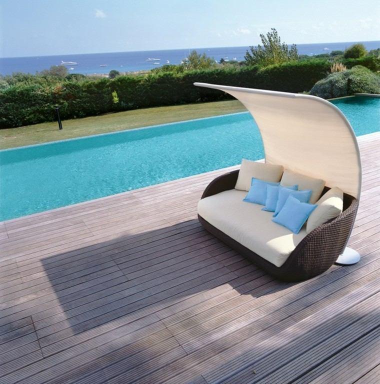 moderno estilo piscina techado mar